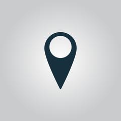 Mark icon, pointer. vector illustration