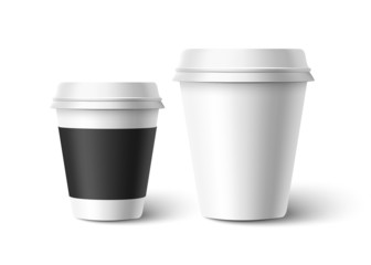 Cups of coffee. Vector