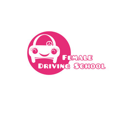 Female driving school logo