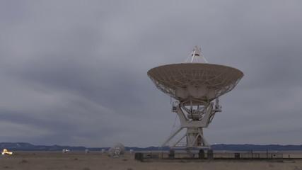 Time lapse Very Large Array Radio Telescopes moving