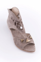Women's summer shoes with low heels.
