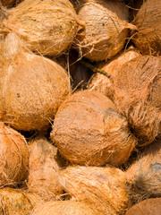 Fresh coconuts at the openair market i