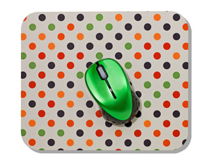 spotted Mouse mat and green mouse