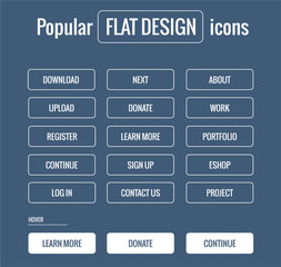 Popular and trendy flat design icons