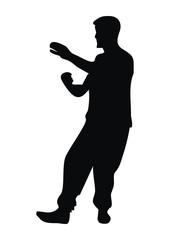 yoga, black silhouette