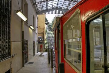 Funicular in Genoa.