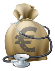 Euro Money Sack and Stethoscope