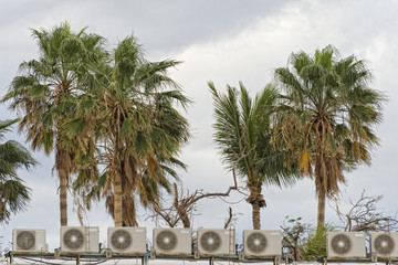 air conditioners on roofs palm