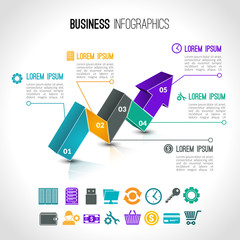 Business charts infographic