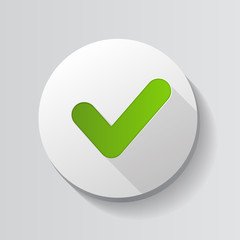Green Check Mark Icon Button Vector Illustration