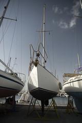 boat on repairing dock