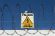 canvas print picture - peligro alta tension danger high voltage spanish
