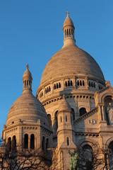 Towers of Sacré Coeur Basilica at Mont Martre in Paris