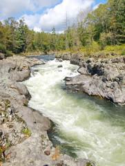 Rough taiga river