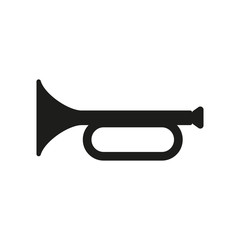 The horn icon. clarion symbol. Flat