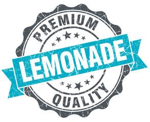 lemonade vintage turquoise seal isolated on white