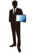Businessman with touch screen Vector