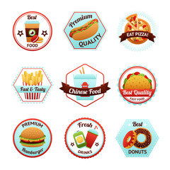 Fast Food Emblems