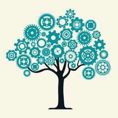 Cog Wheel Tree