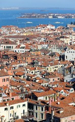 Views of Venice ITALY from St Mark's Campanile