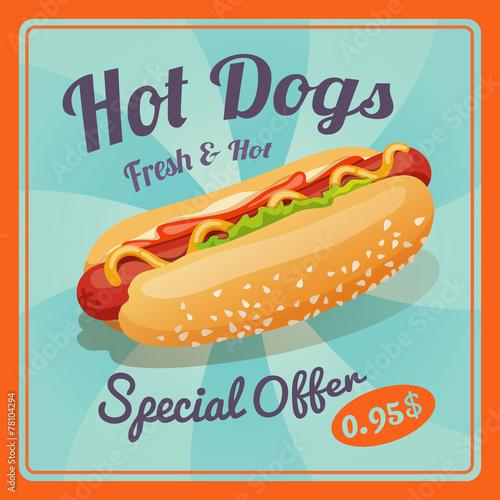Hot Dog Poster - 78104294