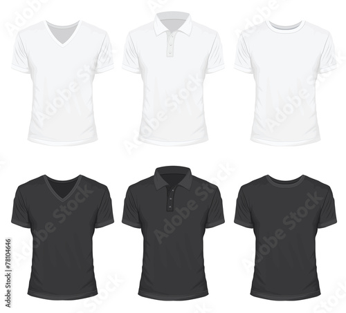 T-Shirt in White and Black Color - 78104646