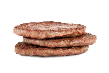 a cooked burger patties