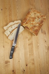 bread slices and knife
