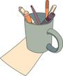 Cartoon Mug Drawing