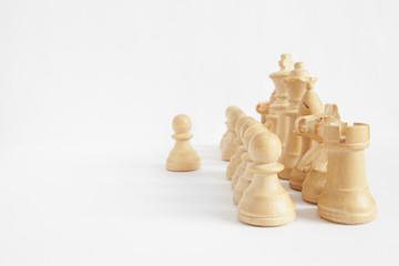 Chess strategy: points of view (main focus on rook and pawn)