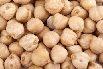 close up shot of chickpeas