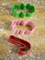 close up shot of plastic cookie cutters