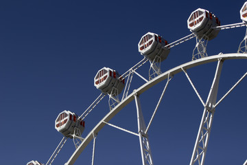 Ferris Wheel under the blue sky