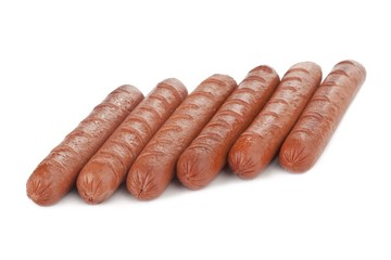 cooked grilled hotdogs