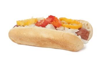 delicious hotdog sandwich