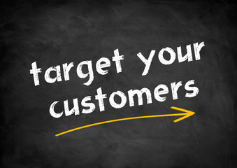 target your customers chalkboard concept