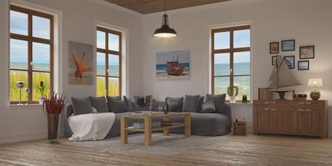 apartment - living room - baltic sea - shot 2