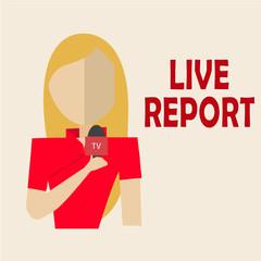blondie woman journalist live and direc