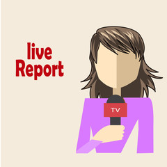 woman journalist live and direct