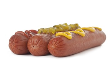 hotdogs with condiments
