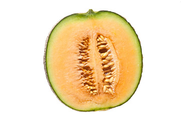 japanese melon isolate on white background