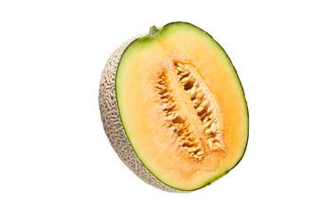 japanese melon isolate on white background
