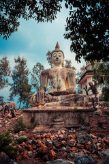 The Ancient Buddha Statue
