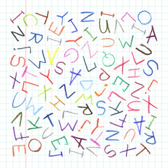 Children pencil ABC background