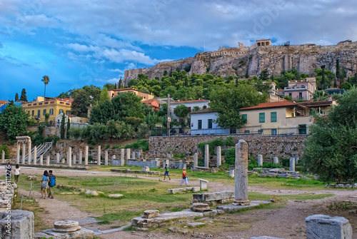 Fotobehang Athene Athens, Greece - September,7 2014. Tourists visiting the Ancient