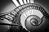 Black and white spiral staircase - 78112624