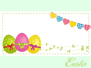 Easter eggs background panel and bunting