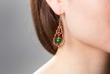 women's jewelry, earrings, necklaces