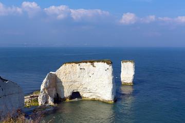 Old Harry Rocks chalk stacks Studland Dorset uk Jurassic coast