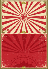 Vintage poster circus background